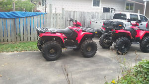 2 Polaris ATVS FOR SALE 2006 and 2007