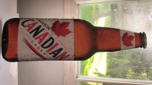Molson's Canadian Beer Bottle Tin