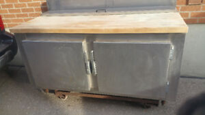 FOR SALE Industrial Stainless Steel Prep Table w/Butcher Block