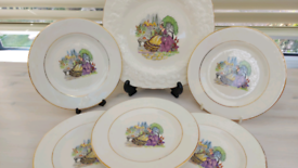 Collectors vintage tea plates