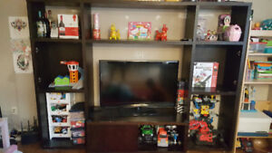 expresso TV unit with shelf cabinet only for $100