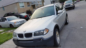 Quebec plated 2005 BMW X3 SUV, Crossover