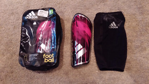 Girls Size Large Shin Pads with Slip Over Sleeve