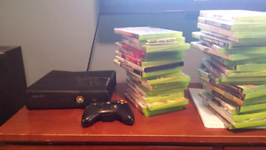 X BOX 360 WITH 39 GAMES