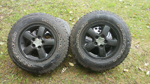Jeep rims and snow tires