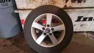Snow tires on Mazda alloy rims