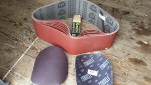 Belt and disc sand paper