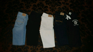 Girls  Abercrombie and Fitch denim Jeans like new!