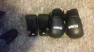 12 Oz boxing gloves and xs gloves
