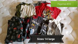 Boys clothing sizes med-lg