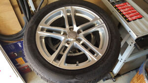 Set Of Four Audi R8 Replica Wheels And Winter Tires.