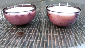 'Wild Rose' scented candles