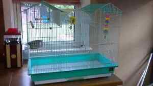 Bird cage and accessories$100 O.B.O. Peterborough Peterborough Area image 1