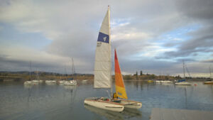 Award winning, fully restored 15 foot catamaran for sale