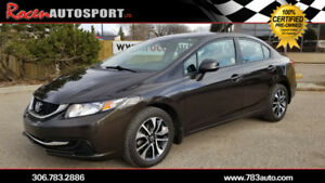 CERTIFIED 2013 HONDA CIVIC EX - LOADED - HTD SEATS - B/UP CAM