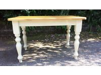 SOLID 4 FT PINE FARMHOUSE TABLE CAN DELIVER