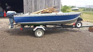 12ft aluminum boat /motor /trailer combo