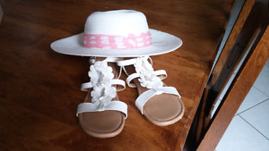 Sandals and Easter hat