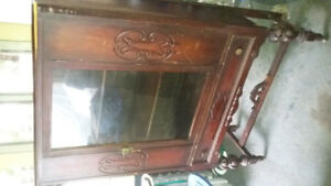 Antique Ontario Made China Cabinet North Amer Bent Chair Company