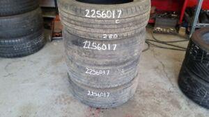Set of 4 Kumho Solus KL21 225/60R17 tires (60% tread life)