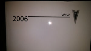 NEW 2006 PONTIAC WAVE OWNERS MANUAL 20.00