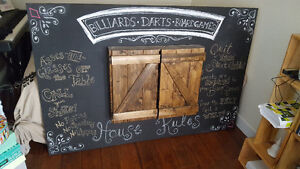 Chalkboard/Dartboard Wall Feature - Game Room Special