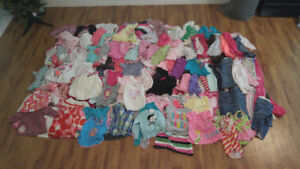 Girls clothes ranges from 12 to 18 month's