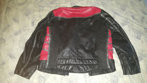 MEN'S SMALL (42) LEATHER MOTORCYCLE JACKET BRISTOL
