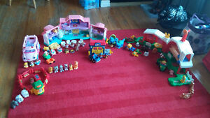 Large lot of Fisher Price Little People