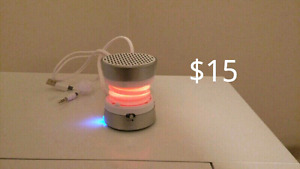 iHome mini speaker with changing LED lights.