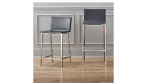 CB2 Carbon Counter Stools set of 3