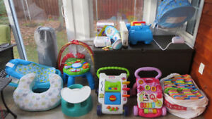 Baby equipment, toys, clothes, etc