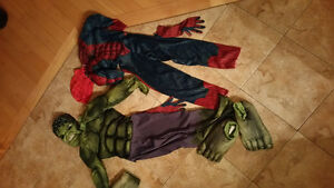 Costumes Spiderman, Hulk, Thor and Elsa from Frozen