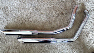 New Cycle Shack Chrome 2000-LATER Softtail Pipes $325..