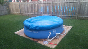 8ft pool with pump and cover