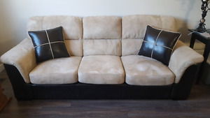 Couch - MicroSuede & Faux Leather