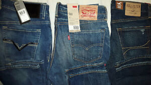 Brand new Levi, Guess, Holister jeans