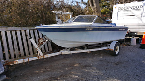 1980 Grew 163 with trailer 85hp Evinrude
