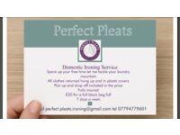 Perfect pleats ironing service