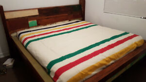 Custom Made Rustic King Bed Frame and Headboard