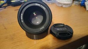 Nikon AF Nikkor 50mm 1.8 D Lens