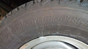 Set of four 215/75 R15 100S Winter tires  - as new - 99% tread