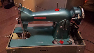 White straight stitch sewing machine