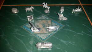 10 different old vintage metal Monopoly pieces only $7 for all..