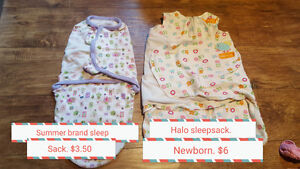 Baby girls blankets, swaddles etc.