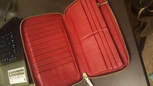 Red Leather Wallet from Danier Leather Peterborough Peterborough Area image 2