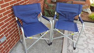 Blue Folding Camper Chairs