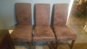 3 brown parsons chairs St. John's Newfoundland image 1