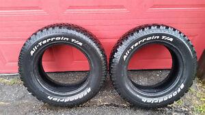 Deux pneus tout terrain