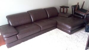 Leather Contemporary Sectional, imported from Italy